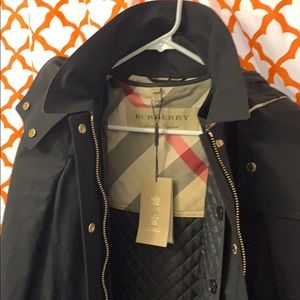 Black trench with removable hood